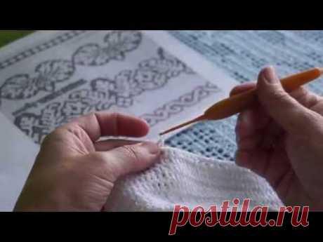 """Филейный белый  топ """"Сухоцветы от Валентино"""" процесс часть 2 Knitted lace (В №20)"""