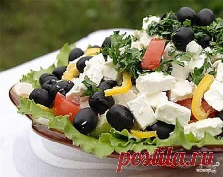 Греческий салат с фетаксой - пошаговый рецепт с фото на Повар.ру