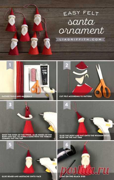 Санта-Клаусы из фетра
