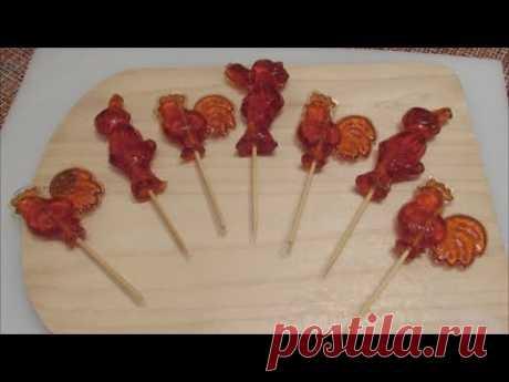 Леденцы петушки на палочке. Рецепт приготовления леденцов в домашних условиях