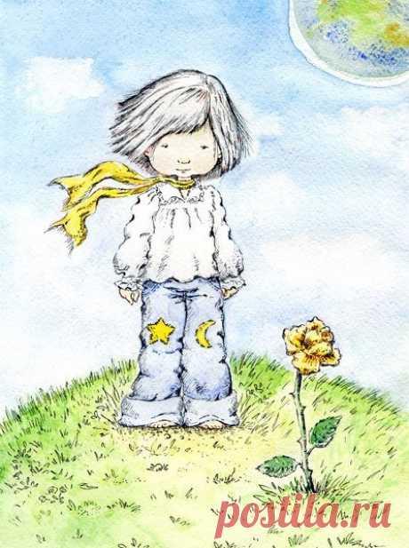 Ես կարող էի նրան չլսել,-մի օր խոստովանեց նա,-երբեք չպետք է լսել ծաղիկներին:Պետք է միայն նայել նրանց ու շնչել նրանց բուրմունքը:Իմ ծաղկի բուրմունքը պարուրել է ամբողջ մոլորակը,բայց ես չկարողացա ուրախանալ… Նա շարունակեց խոստովանել. Ես այն ժամանակ նրան չհասկացա.ես պետք է նրան գնահատեի ոչ թե խոսքերով,այլ նրա արարքով:Նա ինձ պարուրում էր անուշահոտությամբ և լուսավորում:Ես չպետք է փախչեի նրանից.ես նրա սերը պետք է գուշակեի իր անմեղ խորամանկությունների ետևում:Ծաղիկներն այնքան հակասական են: