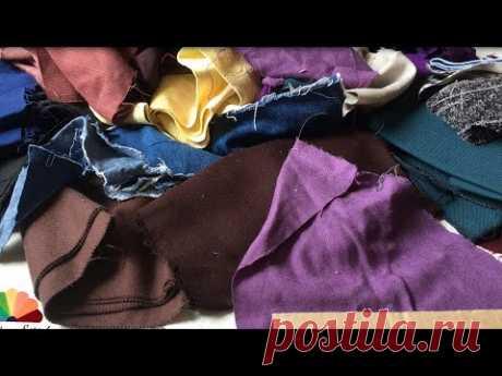 Шью королевский ковер! DIY Двухсторонний коврик. Мастер-класс Old clothes reuse Out of waste doormat