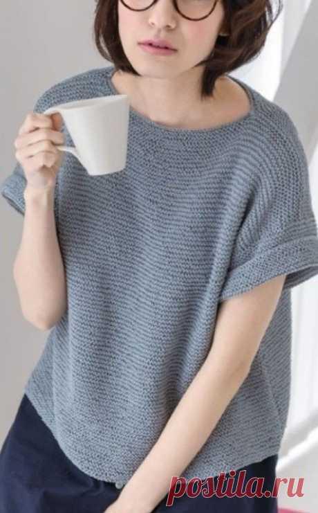 Пуловер простого кроя. Схема и выкройки