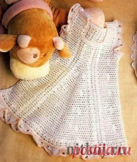 Детское летнее платье крючком » Ниткой - вязаные вещи для вашего дома, вязание крючком, вязание спицами, схемы вязания