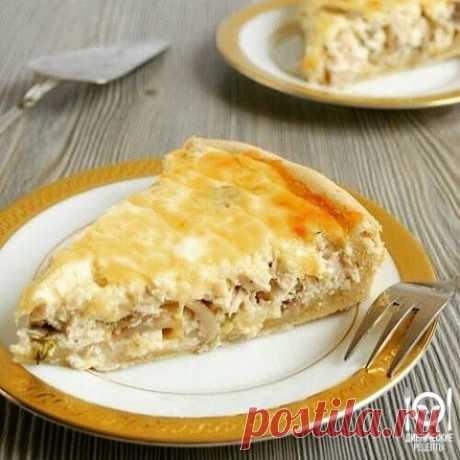 Пирог-сметанник с курицей и грибами | OK.RU