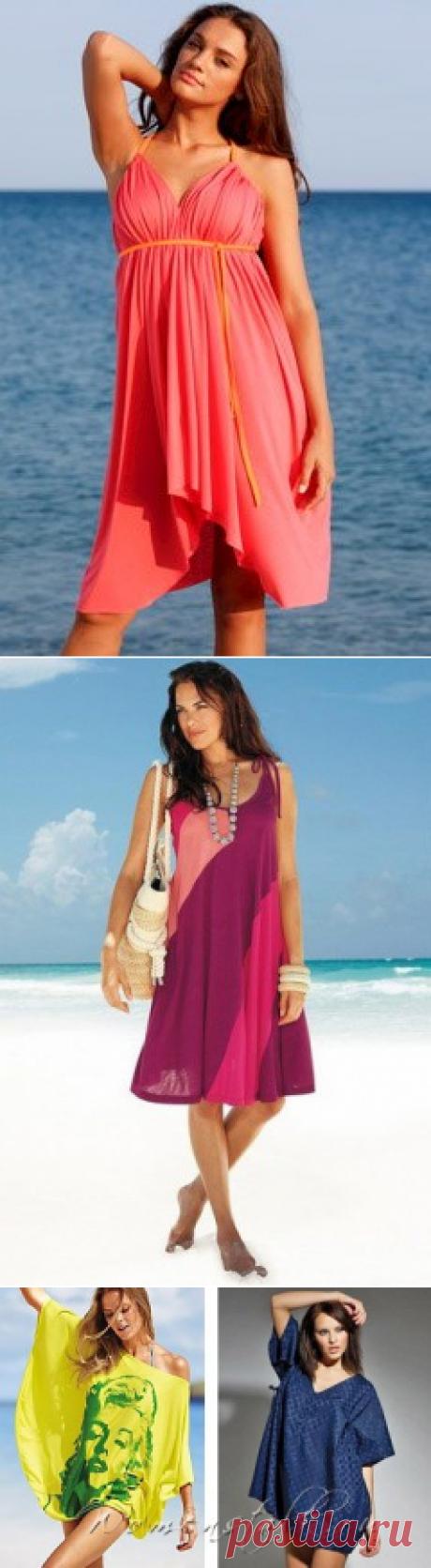 ¡Los vestidos de playa sin patrones es muy simplemente!