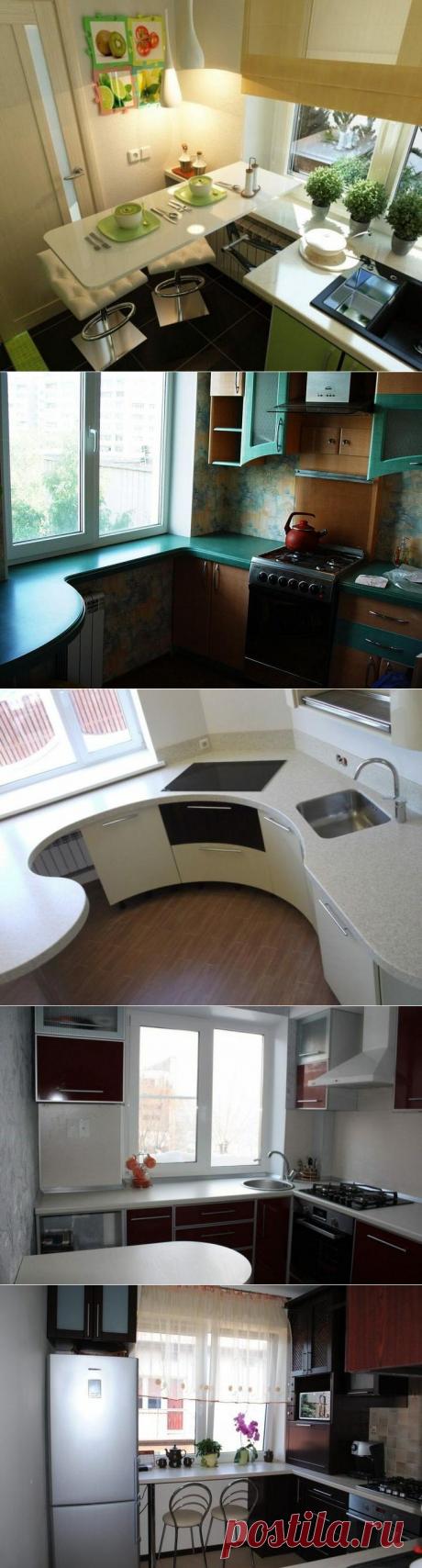 Идеи для обустройства функционального подоконника на маленькой кухне