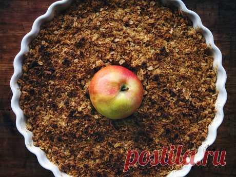 Яблочный крамбл — Вегетарианские рецепты