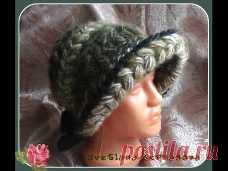 We knit a hook a hat hood Part 1