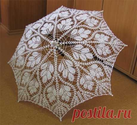 Ажурный зонтик крючком