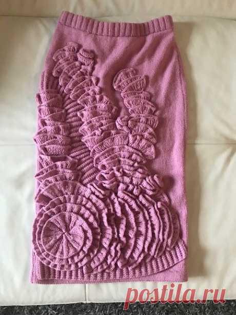 Дизайнерская вязаная юбка ручной работы: 1 700 грн. - Женская одежда Кривой Рог на Olx