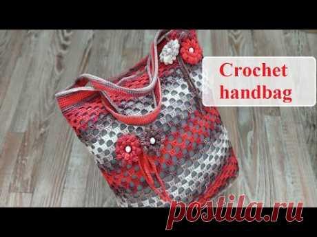 Необычные ажурные ромбыСумочка крючком / Сrochet handbag