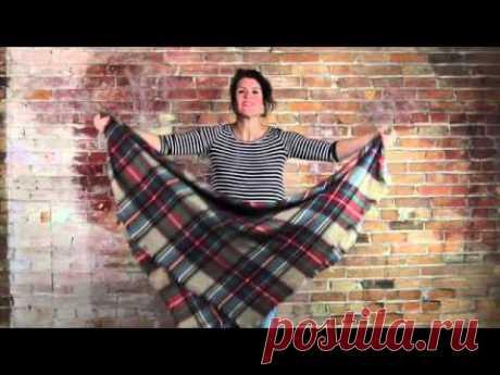 8 Ways to Tie a Huge Blanket Scarf!