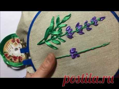 Lavender the embroidered tapes \/ Lavender embroidered ribbons