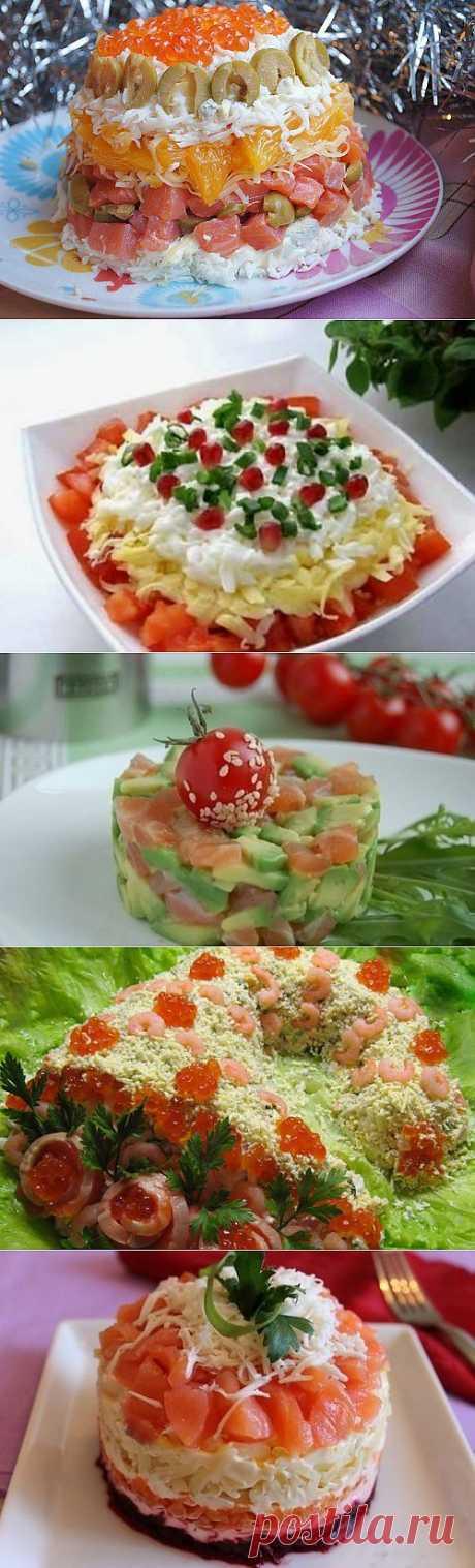 Праздничные салаты с семгой и форелью – 5 лучших рецептов / Простые рецепты