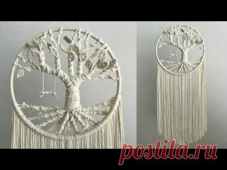 DIY Macrame Dream catcher #3 / 마크라메 드림캐쳐 #3