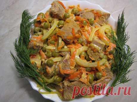 """Салат """"Мясо по-купечески"""" со свининой. Впечатлён вкусом, ароматом и питательностью. Простой пошаговый рецепт с фото.   STASNET   Яндекс Дзен"""
