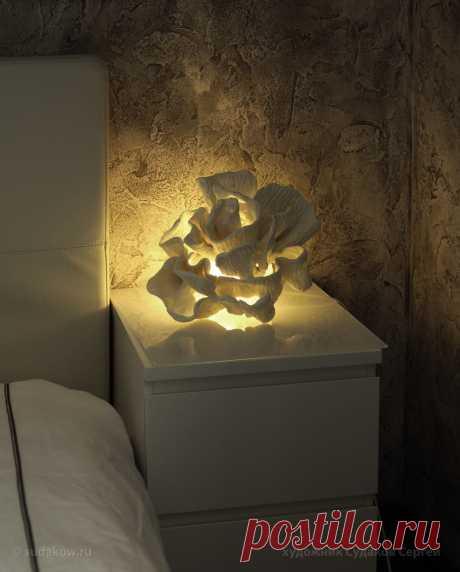 Светильник в виде коралла, барельеф.