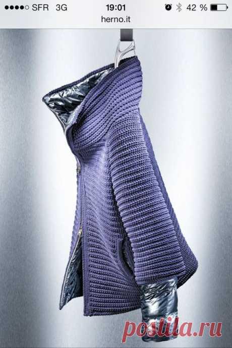 Вязание + пальто (трафик) / Курточные переделки / ВТОРАЯ УЛИЦА