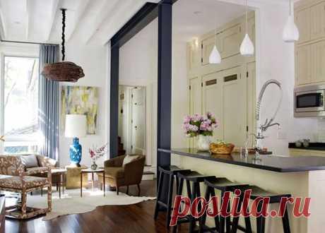 Правильное освещение для кухни-гостиной