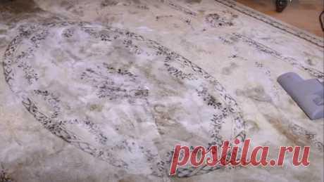 Увидела, как соседка чистит ковёр методом сухой чистки. Взяла на заметку для мамы   Куклы Марины Еремеевой   Яндекс Дзен