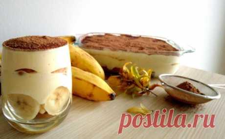 По-итальянски: тирамису с бананом и нежным кремом — Sloosh – кулинарные рецепты