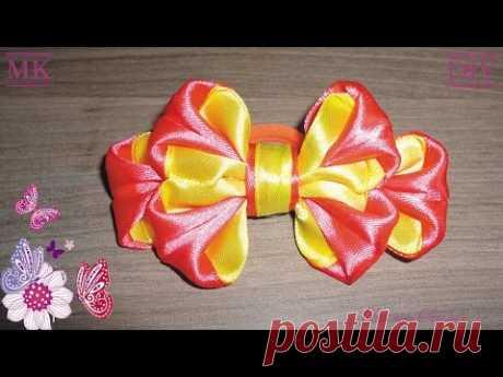Канзаши. Простой бантик / Kanzachi. Simple bow-knot