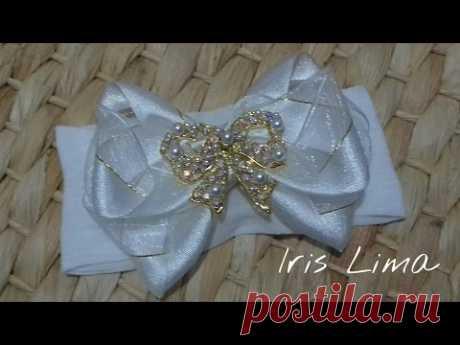 Como fazer laço Diy ,Tutorial ,Pap By Iris Lima How To Make a Hair Bow