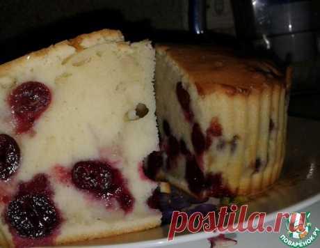 Пирог с вишнями – кулинарный рецепт