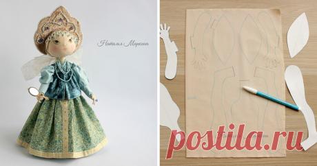 Шьем текстильную куклу Аленушку Позвольте представить вам мой мастер-класс по шитью текстильной куклы в народном стиле. В этой куколке я не использовала готовых лекал с просторов сети. Вдохновившись разными образами, я постаралась создать нечто свое. И рада поделиться с вами моими наработками. По этому мастер-классу вы сможете с нуля сшить текстильную куколку с комплектом съемной одежды и нарисовать личико.