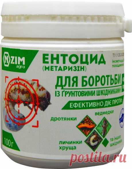Ентоцид – новітній біотехнологічний препарат для боротьби із ґрунтовими шкідниками: ведмедка, дротяник, личинки та імаго травневого хруща, зимуюча фаза колорадського жука в ґрунті.   Активну дієву основу препарату складають міцелій та спори ентомопатогенних грибів (кількох рас). При попаданні на тіло шкідника спори препарату Ентоцид проростають, паралізують нервову систему, органи дихання, м'язову тканину та уражують кишковий тракт та жирову тканину.