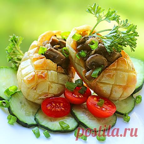 Картофельные лапти с начинкой.