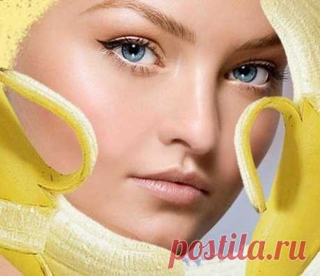 Банановые маски для лица и волос.
