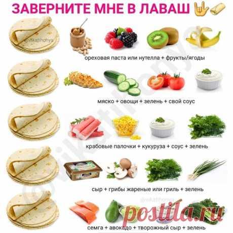 Вкусные идеи для перекуса с лавашом