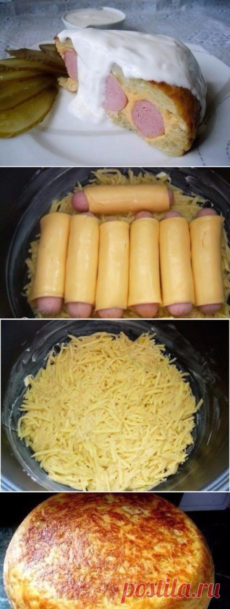 Как приготовить картофельная запеканка с сосисками  - рецепт, ингредиенты и фотографии