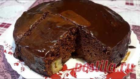 Нежный шоколадно-банановый торт без возни с коржами.