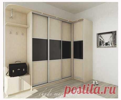 Угловой мебельный шкаф-купе для прихожей или гостиной: замер, дизайн, заказ, фото