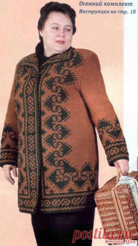 Вязаное пальто - Вязание - Страна Мам