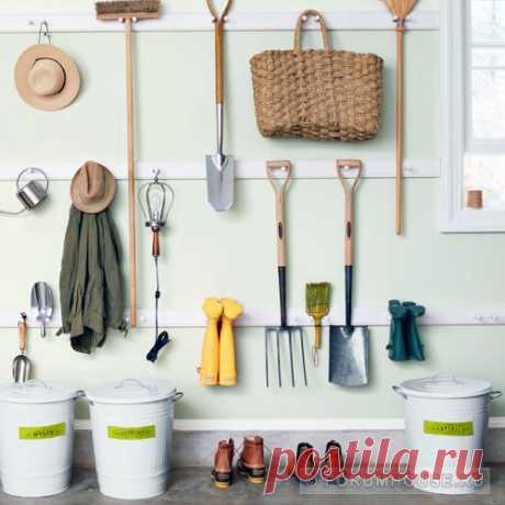 Storage of garden tools: room, racks, devices. - A site and a garden - Articles - FORUMHOUSE