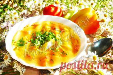 Суп с домашней лапшой - рецепт с фото