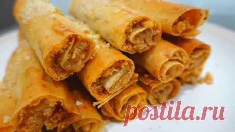 Моментальное ореховое печенье из теста фило // печенье с орехами – пошаговый рецепт с фотографиями