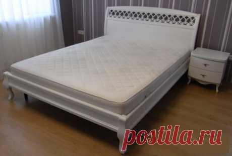 Купить кровать Парус с резьбой по лучшей цене в Киеве с доставкой по Украине - Magic Wood - интернет магазин