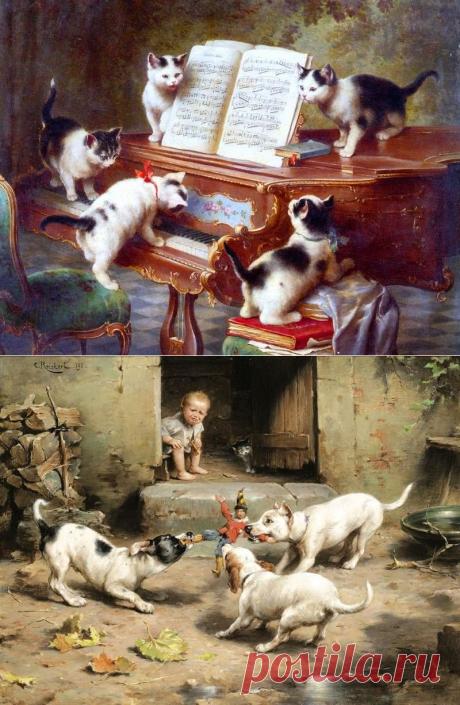 Austrian artist of Carl Reichert (1836-1918)