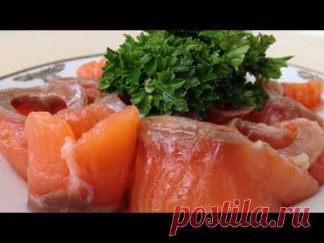 Как Солить Красную Рыбу (Очень Быстро и Просто) How to Salt Salmon, English Subtitles