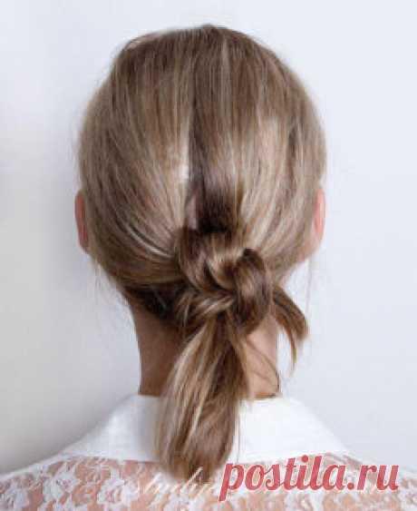 Прическа Узел на длинные волосы   Стрижки и Прически