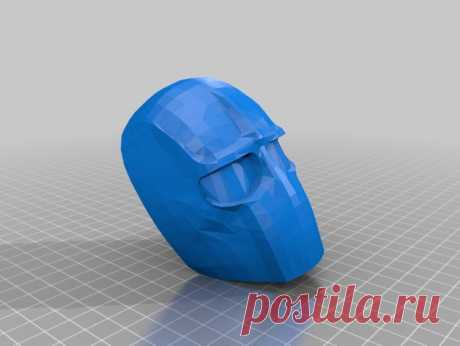 """TV Series 24 Bauer Phyco Mask by Jace1969 An old file from my Pepakura making days that I discovered in Pepakura Designer you can export to .OBJ and in """"Windows 10 3DBuilder or 123Design"""" export to .STL. Unfortunately I don't have the skills yet to improve further on the model, but maybe someone out there would like to tidy it up. Please upload it back as a remix if you do take the time to clean it up. Please note this was originally uploaded to the net as a free down load..."""