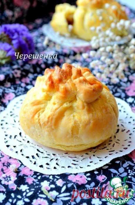 Орехово-грушевые слоеные мешочки - кулинарный рецепт