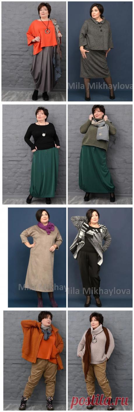 Стильные образы для полных женщин 55+: Просто, но красиво | В темпі життя