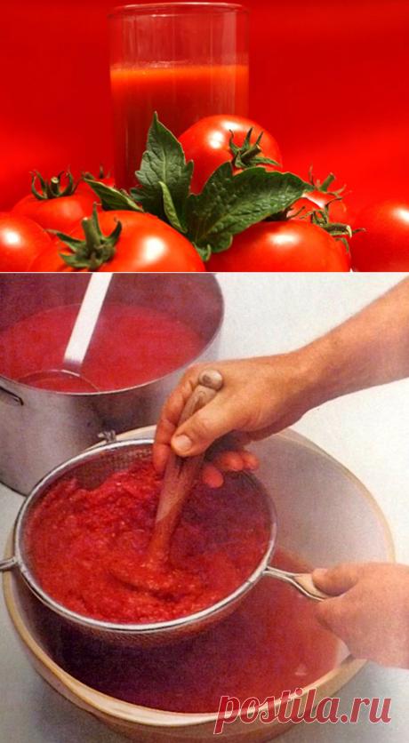 Сок томатный на зиму - рецепт через сито в домашних условиях, видео