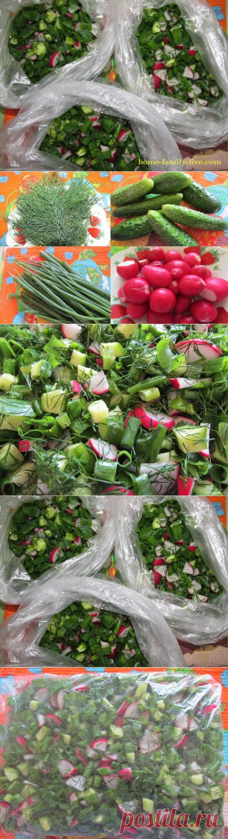 Окрошка на зиму/Сайт с пошаговыми рецептами с фото для тех кто любит готовить